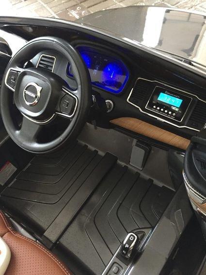 Электромобиль VOLVO XC90 синий (усиленный аккумулятор, резина, кожа, пульт, музыка, ГЛЯНЦЕВАЯ ПОКРАСКА)